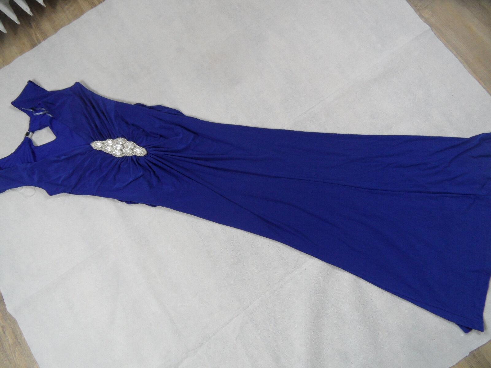 MARINA schönes Abendkleid mit tollem Rücken royal Gr. 6 TOP ZC918
