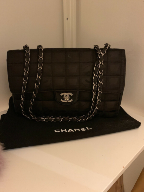 Skuldertaske, Chanel, kanvas, 2.55 canvas medium chanel…