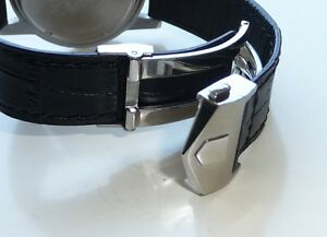 20mm Leather Band Strap Alligator-Style with Deployment Clasp for TAG Heuer