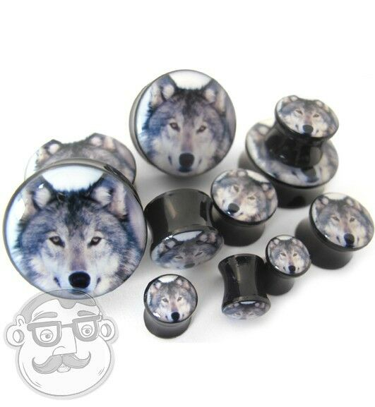 Wolf Plugs Sizes / Gauges (2G - 1inch) - Sold In Pairs - New!