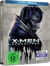 X-MEN APOCALYPSE (James McAvoy, Michael Fassbender) Blu-ray Disc, Steelbook NEU