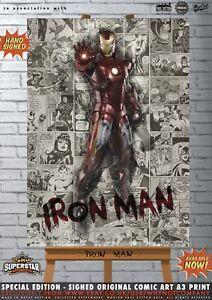 Iron-Man-Robert-Downey-Jr-Avengers-Infinity-War-Comic-SUPERSTAR-A3-Signed-Print