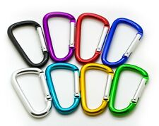 """Keychain Clip Spring Snap Key Chain Lot 100-3/"""" Carabiner D Shape Buckle Pack"""