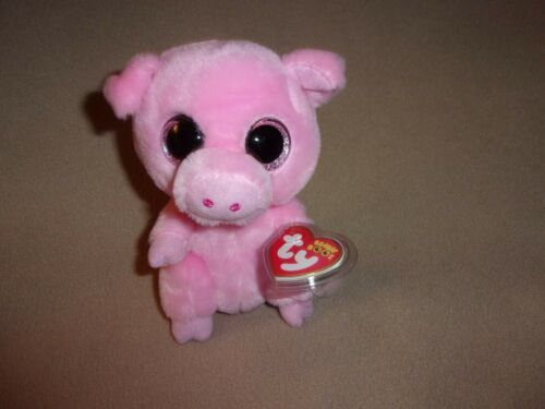 TY MWMT POSEY THE PIG BEANIE BOO- 6 BEANIE BOOS- CLAIRE'S EXCLUSIVE- DARLING!