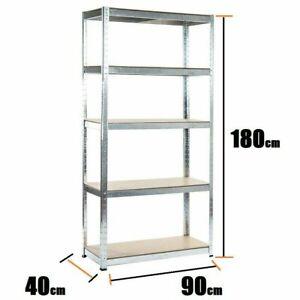 5Tier-Boltless-Garage-Storage-Shelving-Steel-Racking-Galvanised-1800x900x400-mm