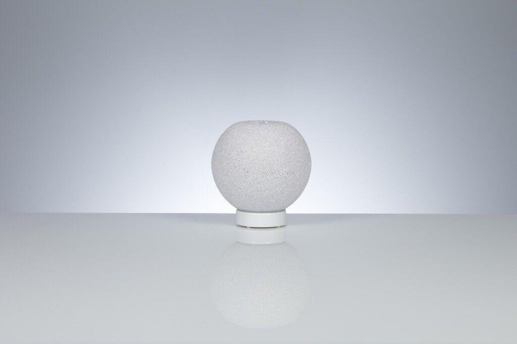 Lampada da tavolo comodino abatjour Scintilla lumetto Emporium Bianco design