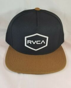 44ac0b0f Image is loading RVCA-mens-adjustable-snapback-mans-hat