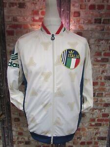Détails sur Adidas Originals Italie TANGO RETRO 2013 Survêtement Veste Blanc Taille L afficher le titre d'origine