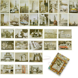 Lot-of-32-Travel-Postcard-Vintage-Landscape-Photo-Picture-Poster-Post-Cards