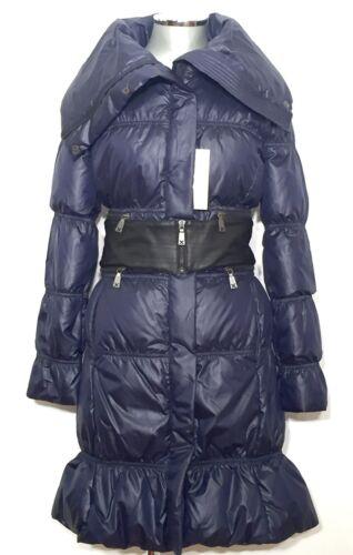 RICHMOND Daunenmantel Steppmantel blau Down Coat blue DE 32 IT 38 XS NEU NP 860€