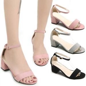 New-Women-039-s-Fashion-Ankle-Strap-Chunky-Heels-Sandals-Peep-Toe-Summer-Shoes-35-42