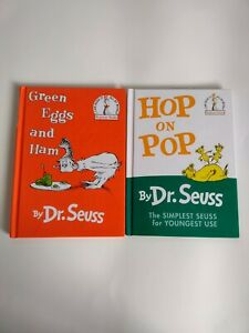 Dr. Suess Lot Of 2 Books Hop On Pop & Green Eggs and Ham