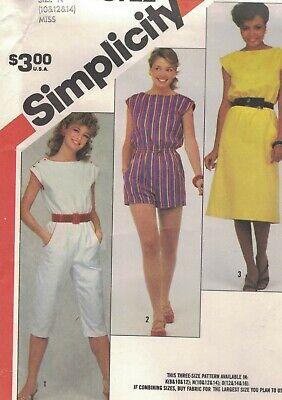 Simplicity 9596 Misses Jumpsuit