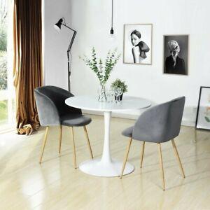 Details Zu Set Von 2 Esszimmer Stuhl Kaffee Stuhl Retro Samt Stuhl Weich Kissen Sessel Neu