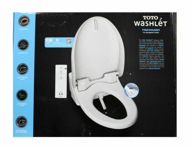 TOTO T1SW2024 White Automated Washlet Bidet Toilet Seat Elon
