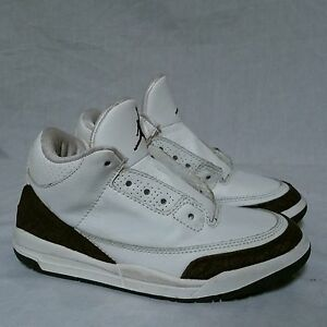 cheap for discount bc071 d3370 Details about Nike Air Jordan 3 iii Mocha OG 2001 Cement White Fire Red 89  True Blue Size 2 Y