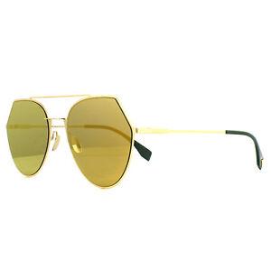 f433349a55 Fendi Sunglasses Eyeline FF 0194 S 001 83 Gold Gold 762753291806