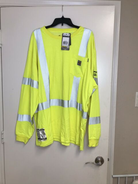 carhartt high visibility/reflective Long Sleeve shirt Sz ...