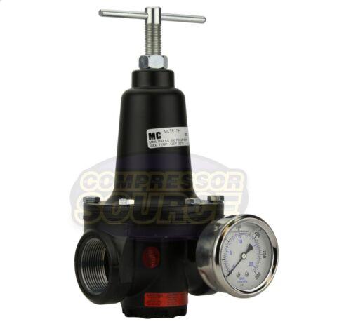 """Nuevo .75/"""" 3//4/"""" en línea de Aire comprimido Compresor Regulador de Válvula de línea de alto caudal"""