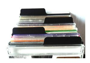 10-x-CD-Dividers-black-best-quality-Filotrax-for-your-collection-shop