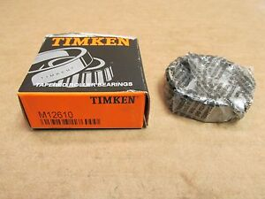 NIB TIMKEN M12610 TAPERED ROLLER BEARING CUP / RACE M 12610 MADE IN USA