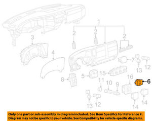 Details about GM OEM Overhead Roof Console-Indicator 25828898 on