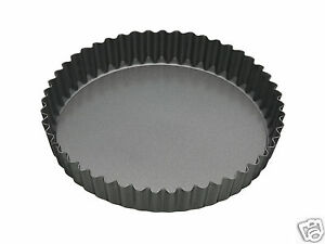 Kitchen-Craft-MC-Non-Stick-Loose-Base-Fluted-Quiche-Flan-Tin-7-034-8-034-9-034-10-034-12-034