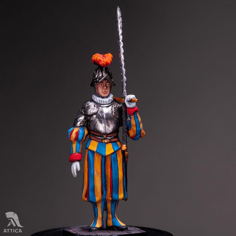 Pontifical Swiss Guard corpoguard of Pope №4 54mm Tin giocattolo  Soldier   Collectible  prendi l'ultimo