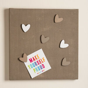 Designer Handmade Magnetic Noticeboard Taupe with Magnets