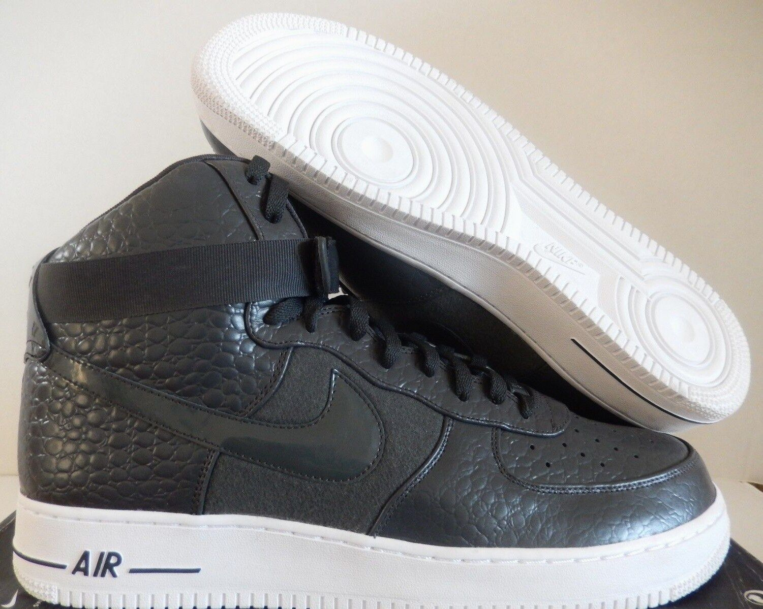 NIKE AIR FORCE 1 HIGH PREMIUM LE DARK SHADOW-WHITE SZ 14