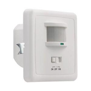 LED Unterputz Licht Schalter Wand Bewegungsmelder PIR Infrarot Körper Sensor Neu