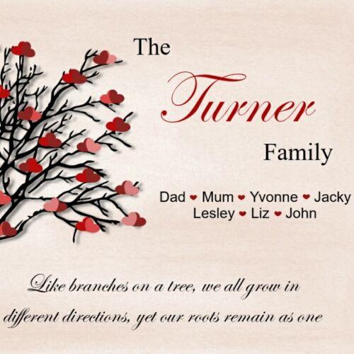 Family Tree Cadeau Personnalisé Mère//Soeur//ami cadeau n/'Imprimer que Maison de famille