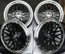 "18"" BLACK LM ALLOY WHEELS FIT VW CADDY CC EOS GOLF JETTA PASSAT SCIROCCO SHARAN"
