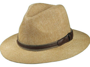 STETSON SALE   MENS FEDORA HAT   NEW SAFARI PANAMA STYLE SUN SHADY ... ae7a330e7db