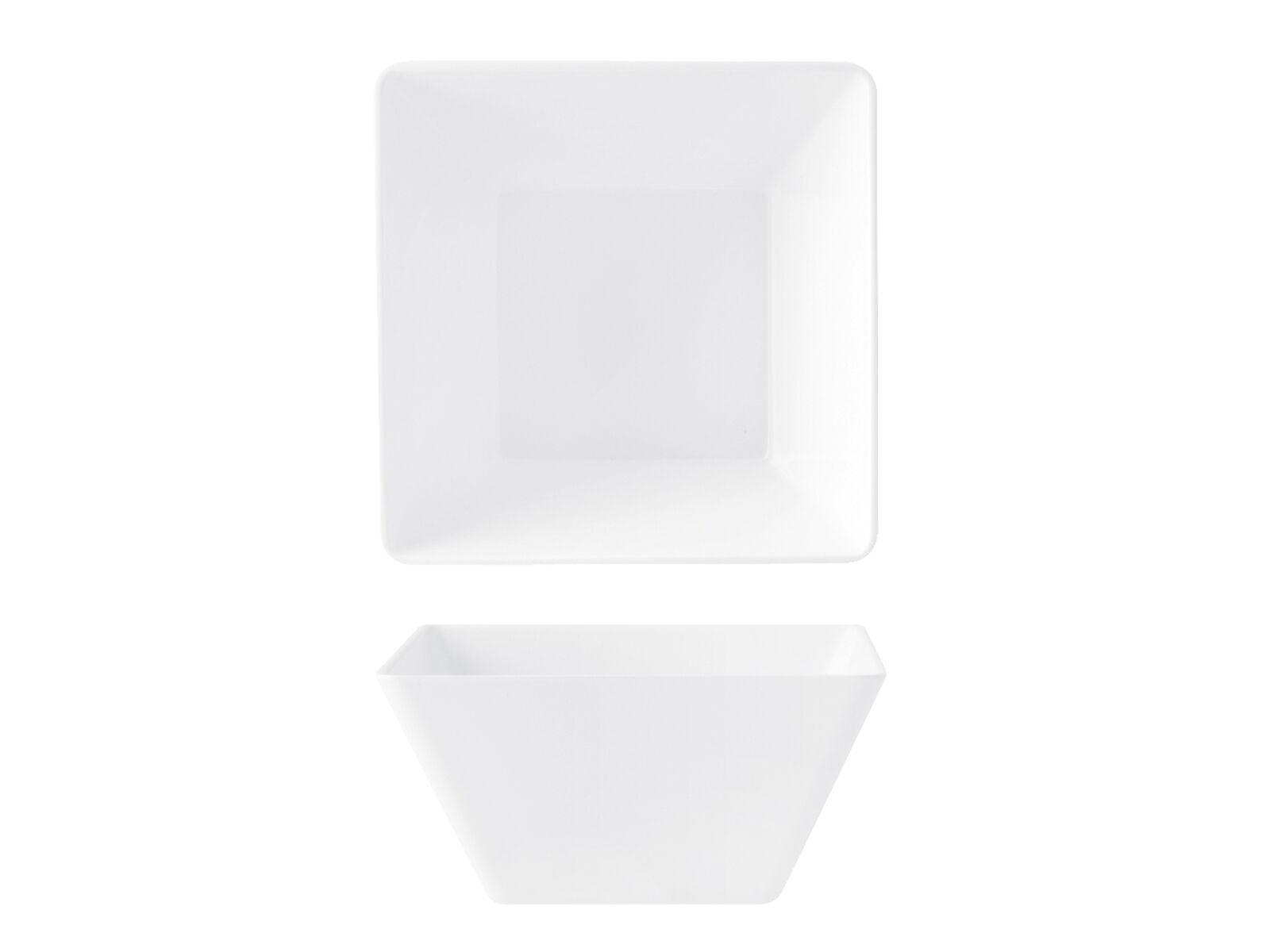H&H Set 4 Insalatiere Melamina Quadrate Alta Cm 21 articolo per la cucina