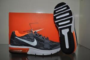 Details about Nike Air Max Sequent Print Boys Grade School Running Shoe 820329 001 GrayOrange