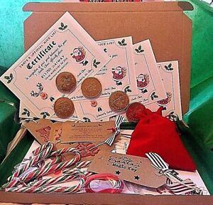 EXTRA-Bambino-Babbo-Natale-Vigilia-di-Natale-di-dimensione-A4-personalizzata-lettera-Magic-Key-amp