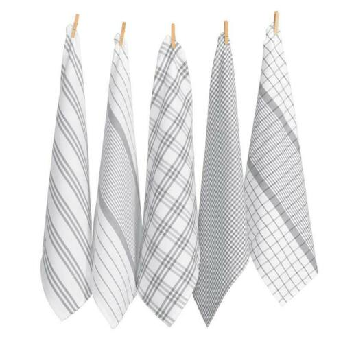 RANS Milan Tea Towel 5 Pack 100/% Cotton5 Colours