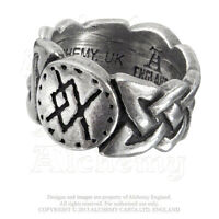 Viking Virility Warrior Rune Pewter Men's Ring Bindrune R195 Alchemy Metal-wear