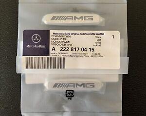 2 x Mercedes AMG Logo Emblems Front Seat Tuning Badges Metal UK 🇬🇧