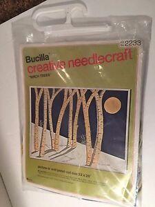 NIP-Bucilla-Creative-Needlecraft-Needle-Craft-Birch-Trees-2233-22-x-28-034
