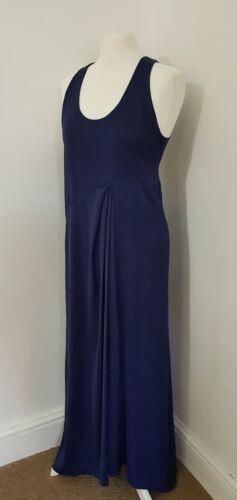 Silbatos Raro Azul Marino Vestido Maxi Uk 12 nos 8 EU 40