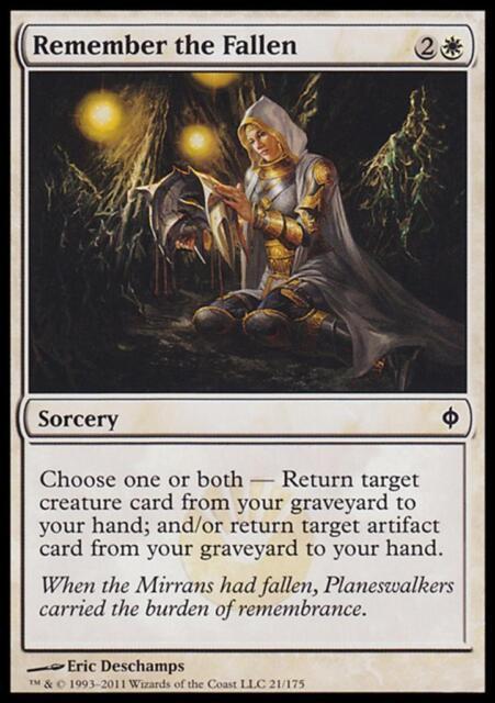 MTG Magic - (C) New Phyrexia - Remember the Fallen - SP