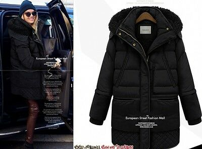 Womens Retro Outwear Coat Thick Duck Down Coat Warm Winter Ladies Parka Jacket
