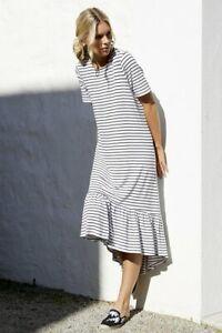 Betty-Basics-Stockholm-Midi-Dress-in-White-and-Black-Stripe