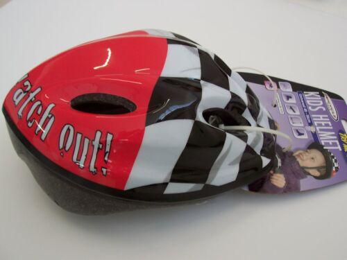 Kinderhelm Schutzhelm Fahrradhelm Fahrrad Helm Kind 48-56 cm Racing Rot Schwarz