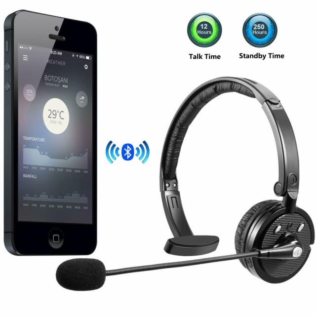 Bluetooth Headset Mic Retractable Office Wireless Headphones Mute Switch Phone For Sale Online Ebay