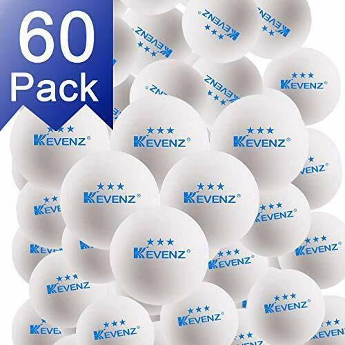 KEVENZ 60-Pack 3-Star Plus 40+mm White Table Tennis BallsAdvanced Training Pi...