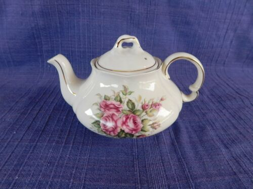 Vintage ELLGREAVE England Ironstone 2 cup POT Pink Roses