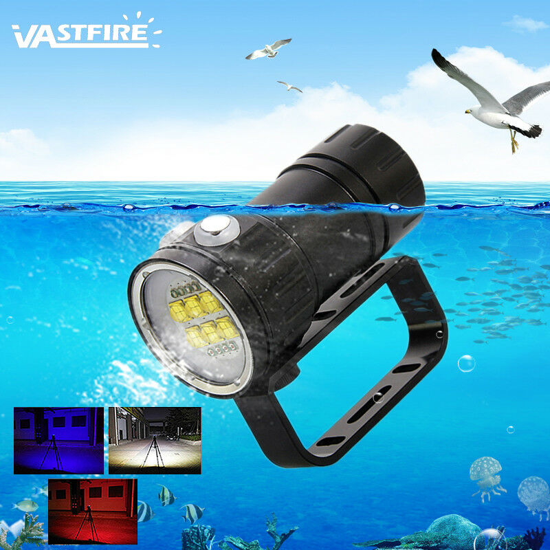Underwater Weiß ROT Blau 18/27LED Photography Diving Waterproof Flashlight Waterproof Diving Lamp 8f3606